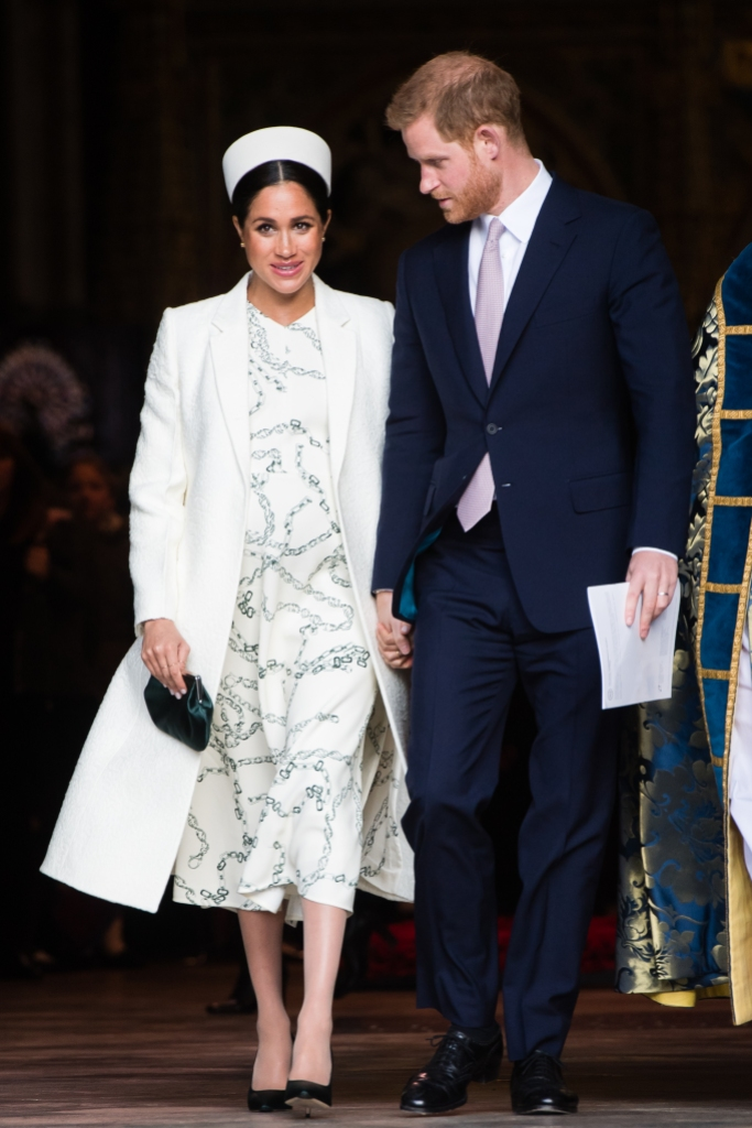 rince Harry, Duke of Sussex and Meghan, Duchess of Sussex attend the Commonwealth Day service at Westminster Abbe6 on March 11, 2019 in London, England.