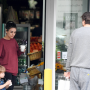 Mila Kunis and Ashton Kutcher spotted grabbing coffee with their two children.