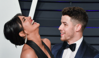 Priyanka Chopra and Nick Jonas at the 2019 Vanity Fair Oscars afterparty.