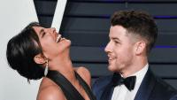 Priyanka Chopra and Nick Jonas at the 2019 Vanity Fair Oscars afterparty.