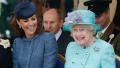 Kate Middleton smiling at Queen Elizabeth