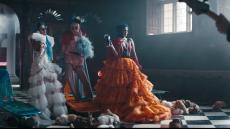 Priyanka Chopra Sophie Turner Danielle Jonas in Jonas Brothers music video sucker