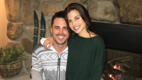 ben higgins wearing a sweater with jessica clarke