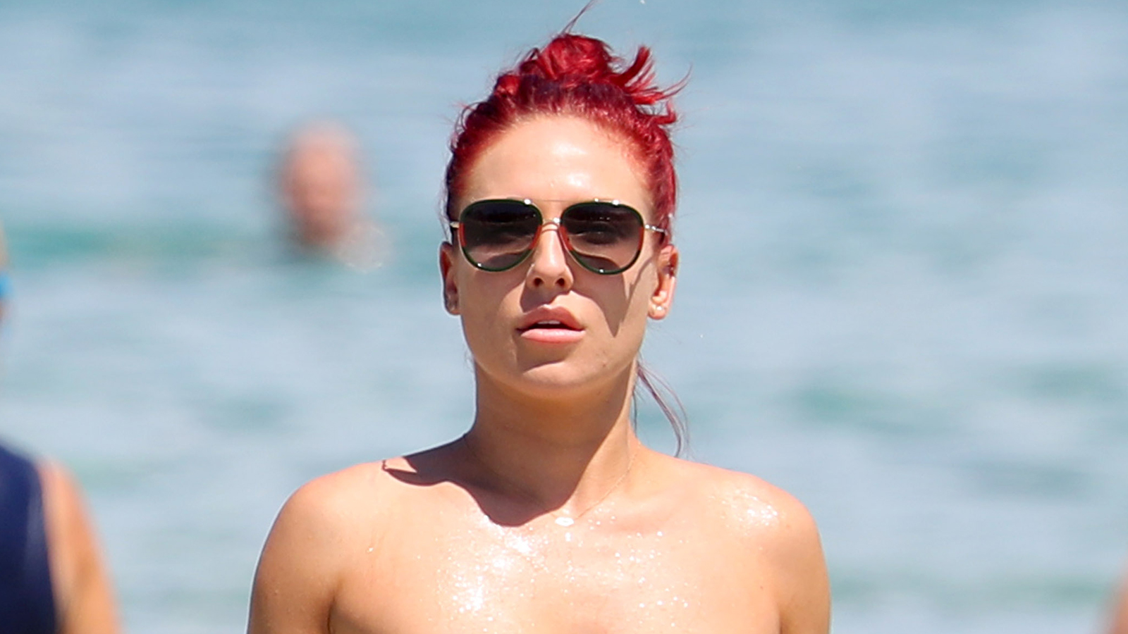 'Dancing With the Stars' Pro Sharna Burgess Looks Ripped in a Bikini While Hanging Out in Sydney