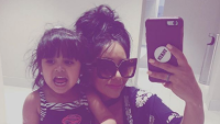 "A selfie of Nicole ""Snooki"" Polizzi and her daughter Giovanna on Instagram"