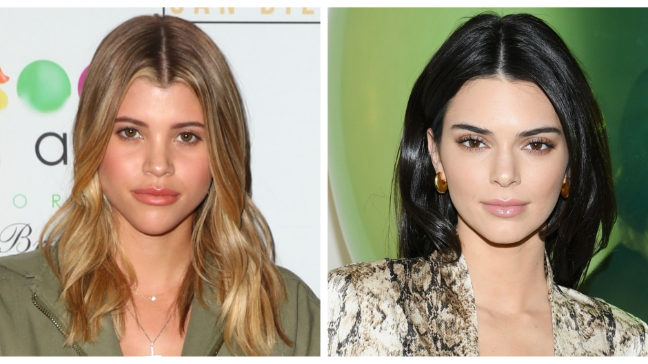 A split image of Sofia Richie and Kendall Jenner
