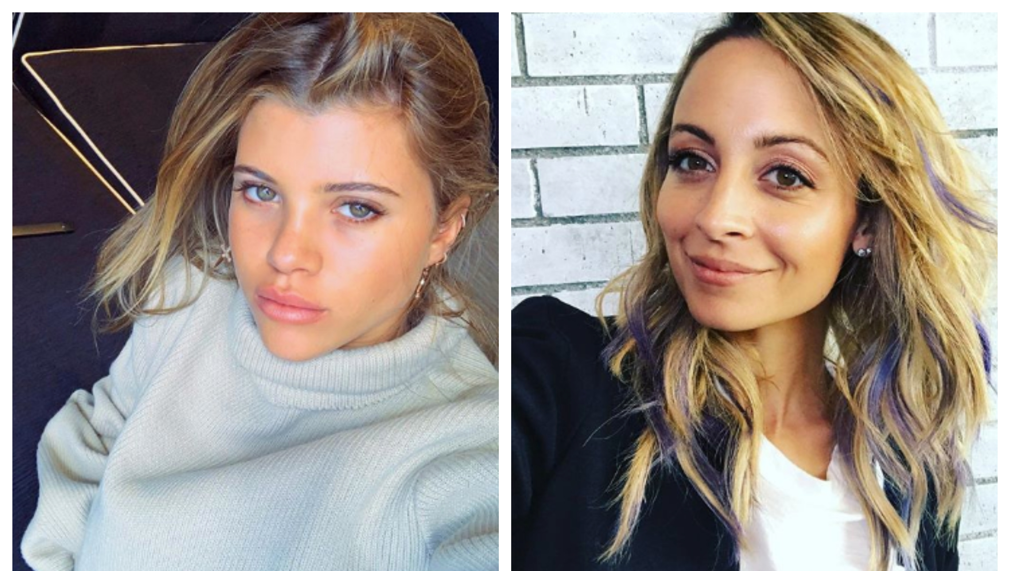 A split image of Sofia Richie and Nicole Richie.