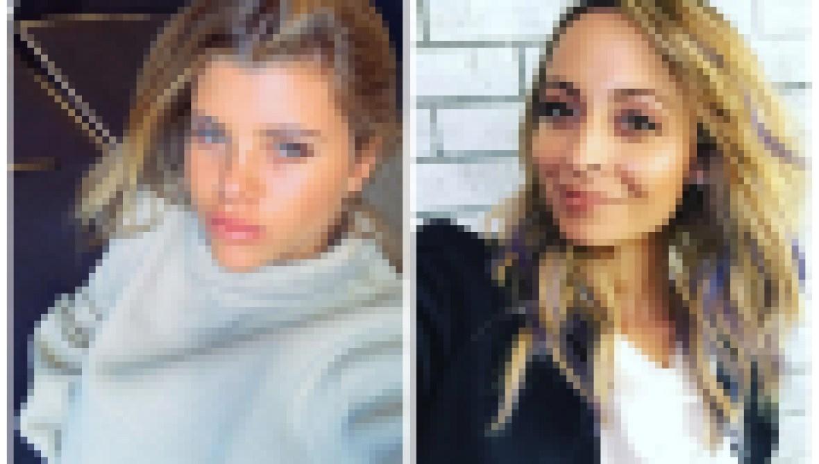 A split image of Sofia Richie and Nicole Richie.