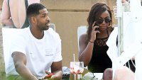 Tristan Thompson Parties Poolside Miami