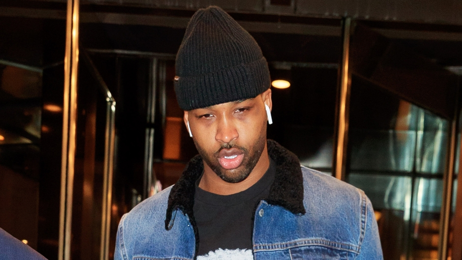 Tristan Thompson Goes Casual in Denim Jacket and Black Hat in NYC Amid Cheating Scandal