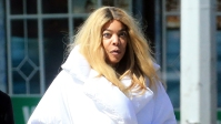 Wendy Williams goes grocery shopping wearing a giant down coat in New York