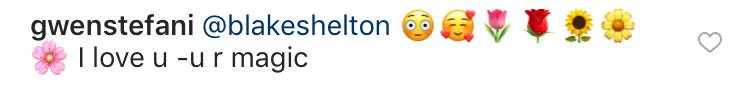gwen-stefani-blake-shelton-instagram-comment