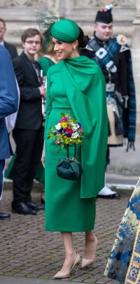 Meghan Markle Green Dress on commonwealth Day