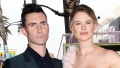 Adam Levine and Behati Prinsloo display their incredible beach bodies