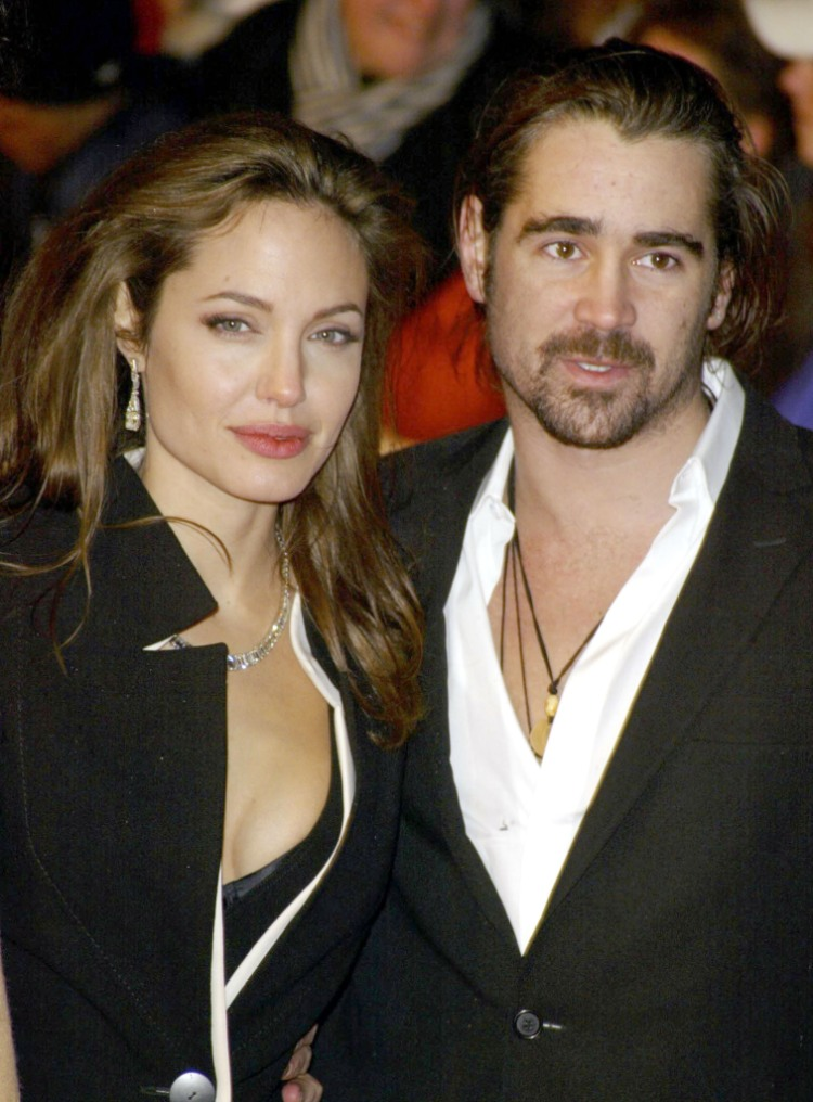 """Angelina Jolie and Colin Farrell at the """"Alexander"""" London Premiere - Arrivals at Odeon Leicester Square in London."""