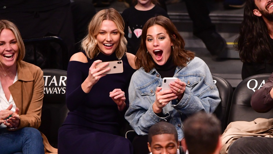 Ashley Graham attends Milwaukee Bucks v Brooklyn Nets game at Barclays Center on April 1, 2019 in New York City.