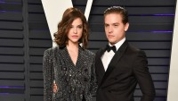 Barabara Palvin and Dylan Sprouse at the Vanity Fair Oscars Party