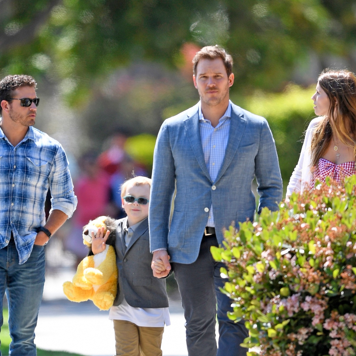 Chris Pratt and Fiancée Katherine Schwarzenegger Take His Son Jack to Church for Easter — See the Sweet Pics!