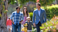 Chris Pratt takes Katherine and Jack to Easter service in Santa Monica, CA