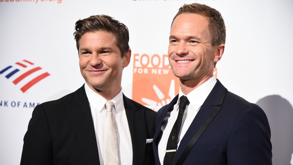 David Burtka and Neil Patrick Harris dressed up for an event