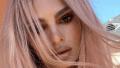 Emily Ratajkowski, Pink Hair, Selfie