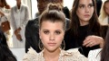 Sofia Richie brown hair up hoop earrings