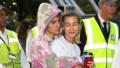Justin Bieber tiedye hoodie Hailey Baldwin scrunchie grey sweats