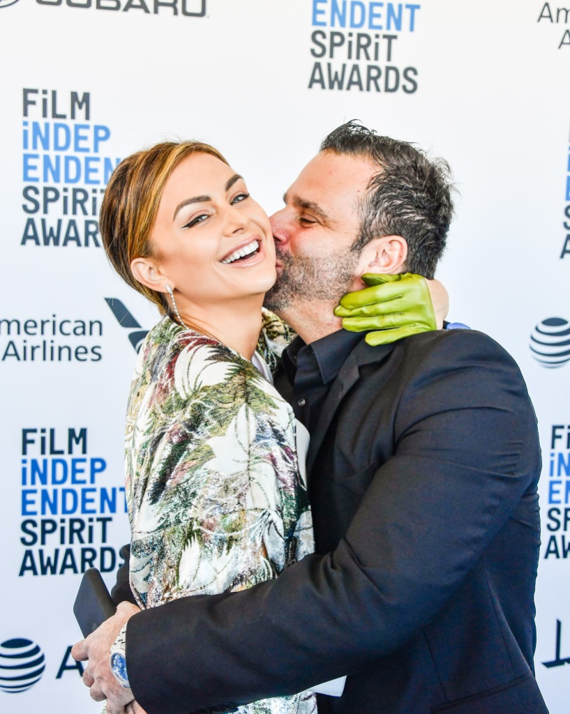 Lala Kent Randall Emmett kissing red carpet pda