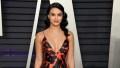 Camila Mendes eating disorder vanity fair oscars party red dress black hair
