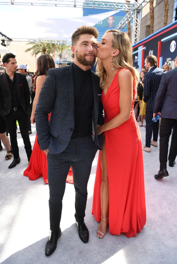 Chris Lane and Lauren Bushnell 54th Academy Of Country Music Awards - Red Carpet