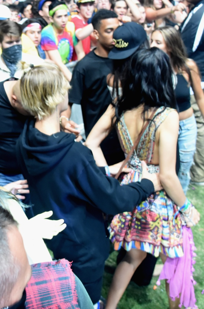 Justin Bieber Shanina Shaik 2015 coachella
