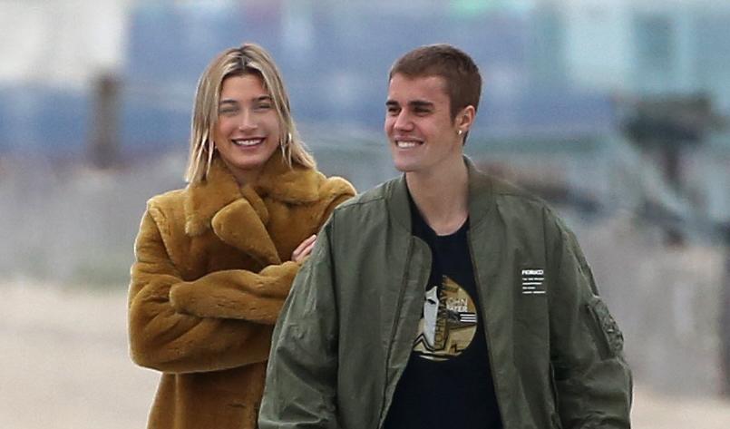 Justin Bieber and Hailey Baldwin take a romantic stroll on the beach