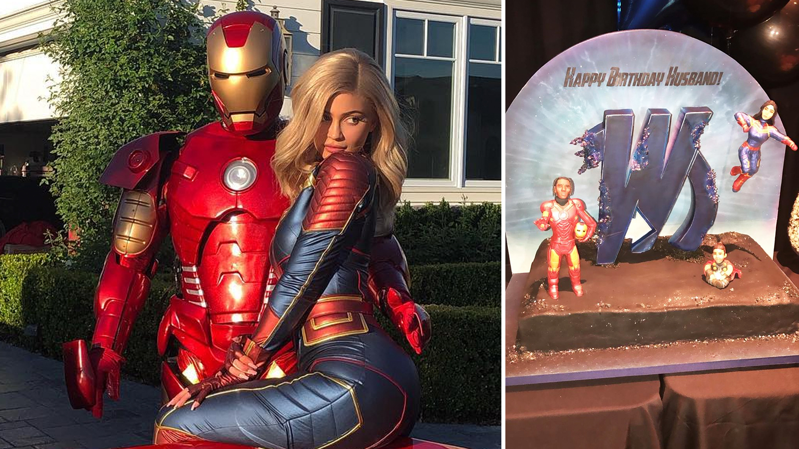 Kylie Jenner Throws Husband Travis Scott Avengers Birthday Party Check out our kylie jenner costume selection for the very best in unique or custom, handmade pieces from our costumes shops. travis scott avengers birthday party