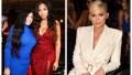 A split image of Jordyn Woods, Elizabeth Woods, and Kylie Jenner