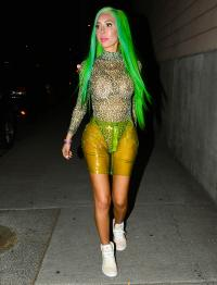 Farrah Abraham Wearing Green Hair