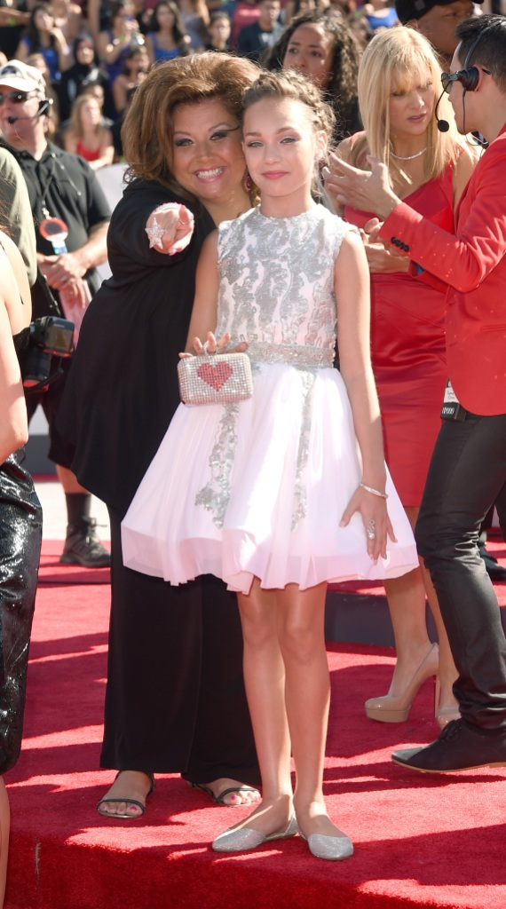 Dance Coach Abby Lee Miller and Dancer Maddie Ziegler attend the 2014 MTV Video Music Awards at The Forum on August 24, 2014 in Inglewood, California.