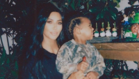 Kim Kardashian reveals she jumped over a table when saint had an allergic reaction