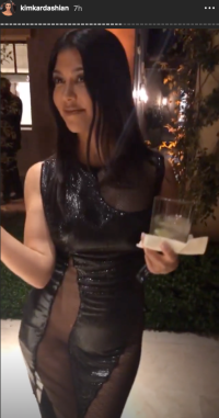 Kourtney Kardashian birthday outfit