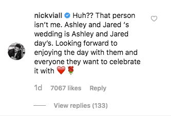 Nick Viall comment on e news about vanessa grimaldi jared haibon and ashley iaconetti wedding