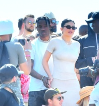 Travis Scott and Kylie Jenner at Coachella