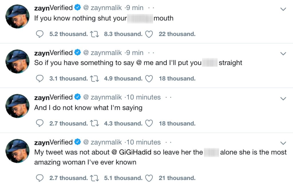 Zayn Malik Passionately Fires Back at Claims He Shaded Ex Gigi Hadid