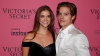 Barbara Palvin and Dylan Sprouse at the 2018 Victoria's Secret Fashion Show