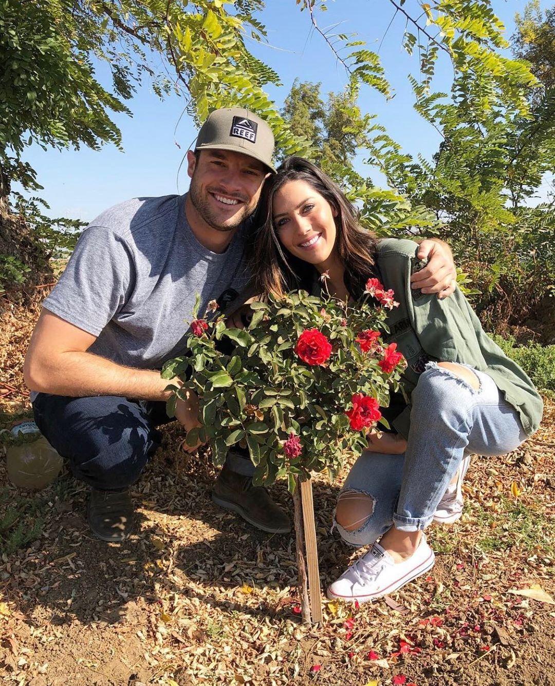 Becca Kufrin and Garrett Yrigoyen Cutest Moments With Rose Bush