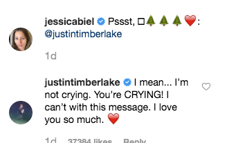 justin timberlake instagram comment