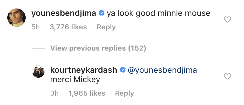 kourtney-kardashian-younes-bendjima-instagram-comment