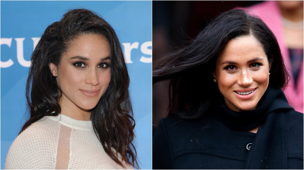 meghan markle in 2015 and 2019