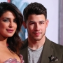 Priyanka Chopra and Nick Jonas posing side by side