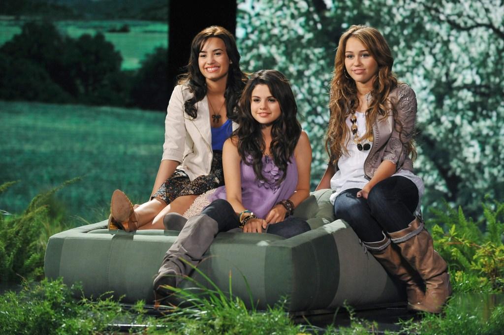 Demi, Selena and Miley