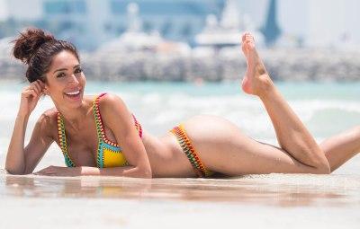 EXCLUSIVE: Farrah Abraham hits the beach in Dubai