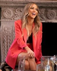 bachelorette KAITLYN BRISTOWE orange suit black lacey top